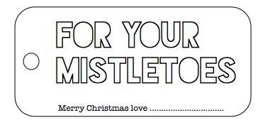 graphic about For Your Mistletoes Printable titled my mistletoes