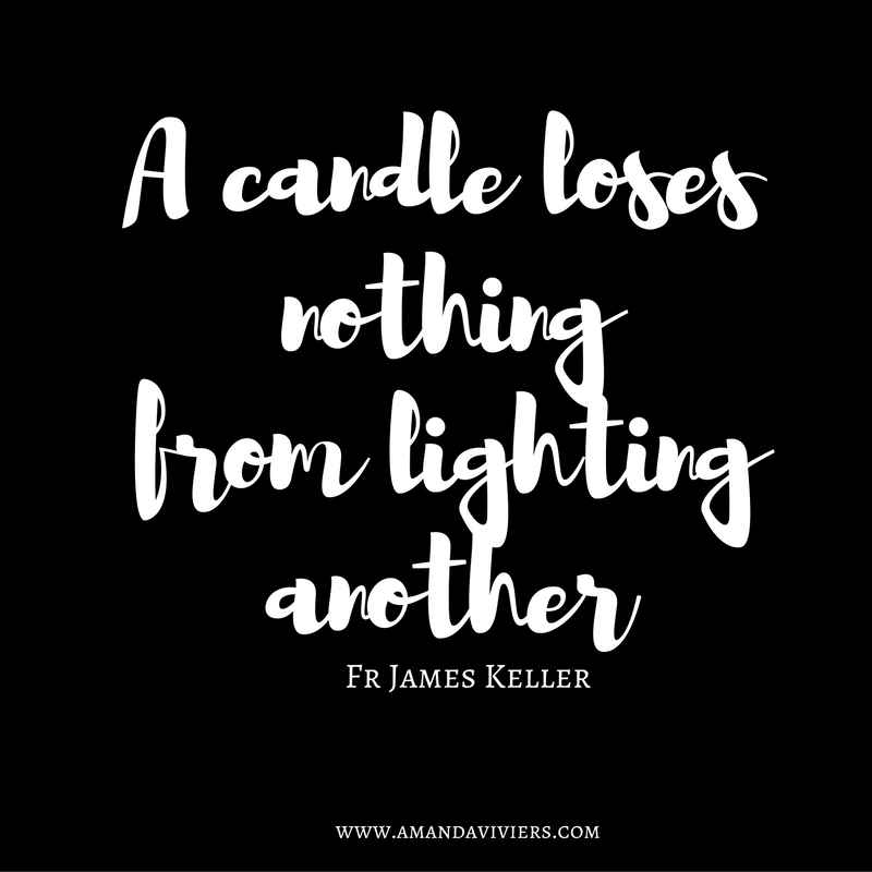 A candle loses nothing from lighting another